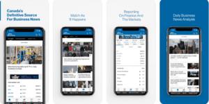 App Mobile pour budget et finance au Canada BloomBerg