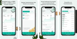 app investissement CI pour investir au canada