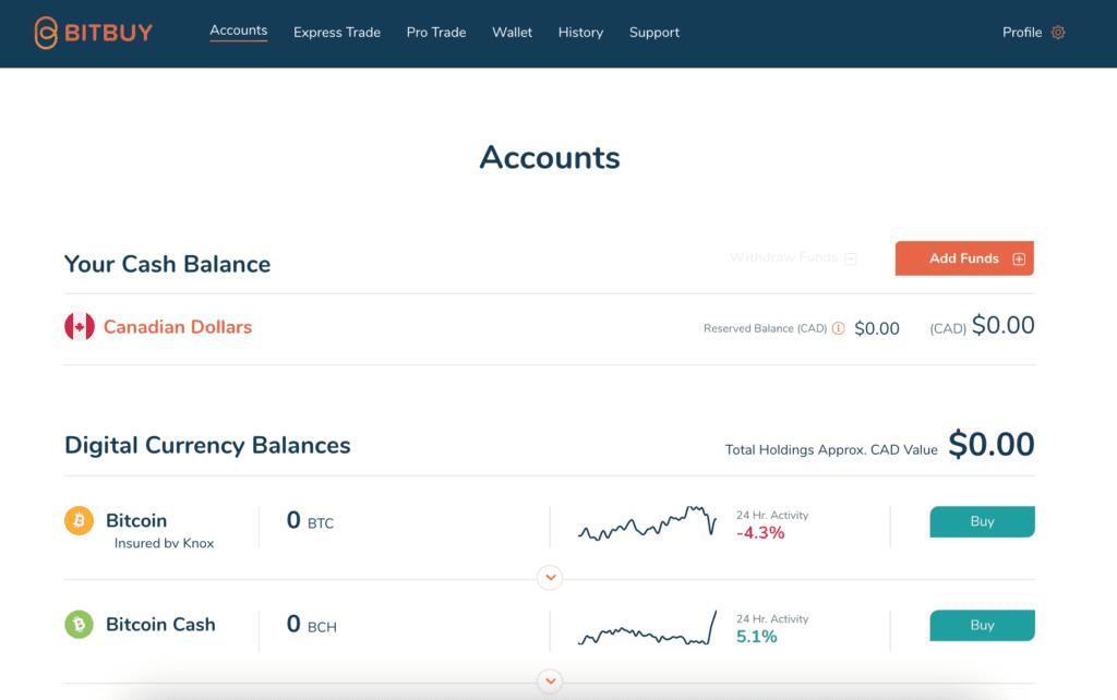A Bitbuy Wallet